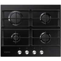 Samsung NA64H3000AK 60cm Four Burner Gas On Glass hob Black