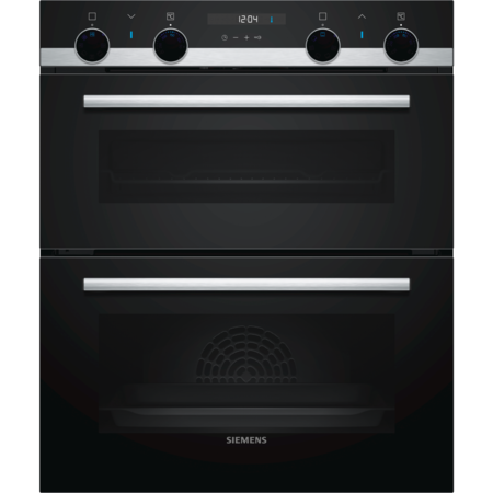 Siemens NB557ABS0B iQ500 Multifunction Built-under Double Oven With EcoClean Liners - Stainless Steel