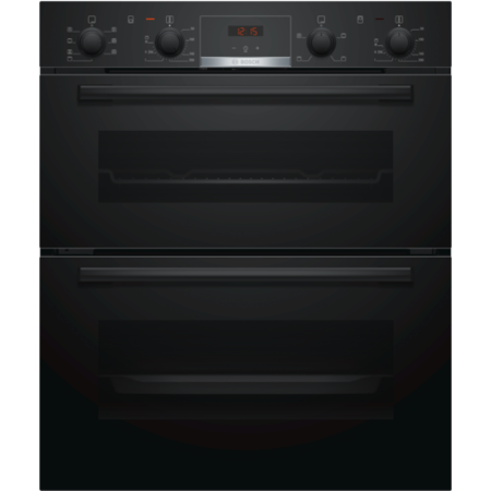 Bosch NBS533BB0B Serie 4 Multifunction Electric Built-under Double Oven With Catalytic Cleaning - Black