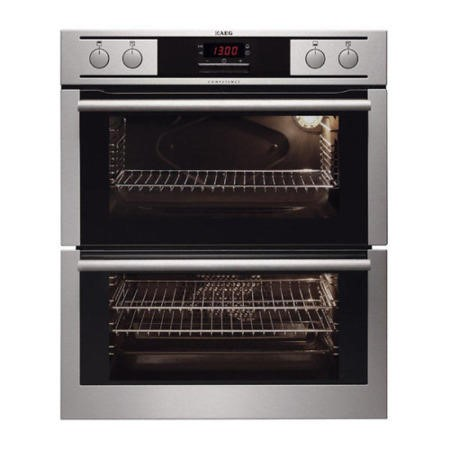 AEG NC4013021M Competence Electric Built-under Double Oven Stainless Steel