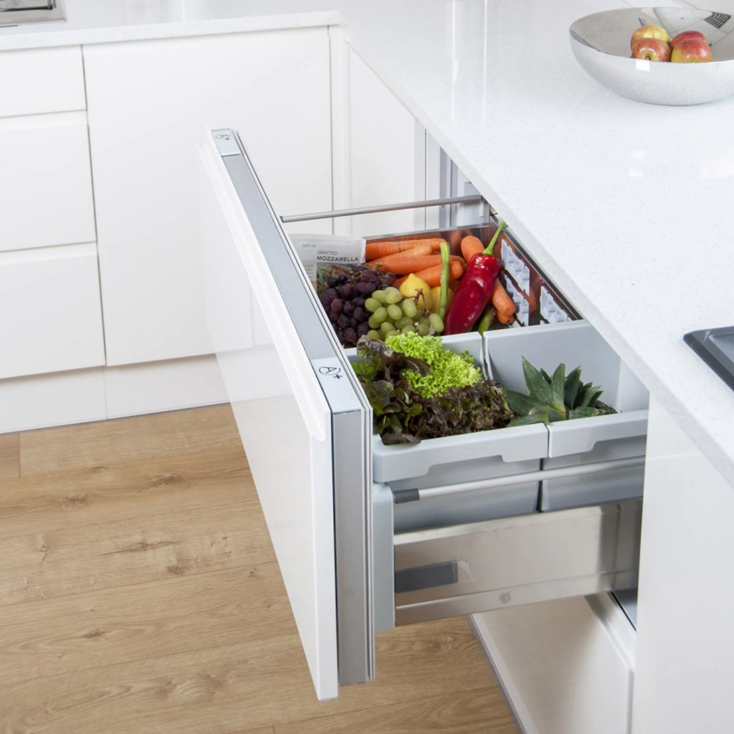Hotpoint NCD191I 90cm Wide Integrated Fridge Drawers Stainless