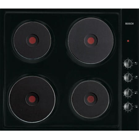 Bosch NCT616C01 58cm Flush Fitting Sealed Plate Electric Hob Black