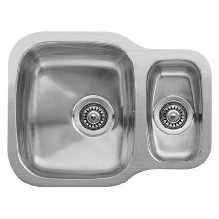 Reginox Nebraska 1 5 Bowl Reversible Undermount Stainless Steel Kitchen Sink Appliances Direct