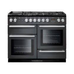 Rangemaster 106090  Nexus 110cm Slate And Chrome Dual Fuel Range Cooker