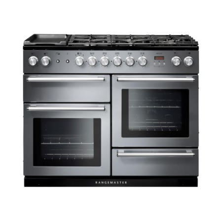 Rangemaster 106100  Nexus 110cm Stainless Steel And Chrome Dual Fuel Range Cooker