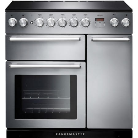 Rangemaster NEX90EISS/C 106190 Nexus 90cm Electric Range Cooker With Induction Hob Stainless Steel C