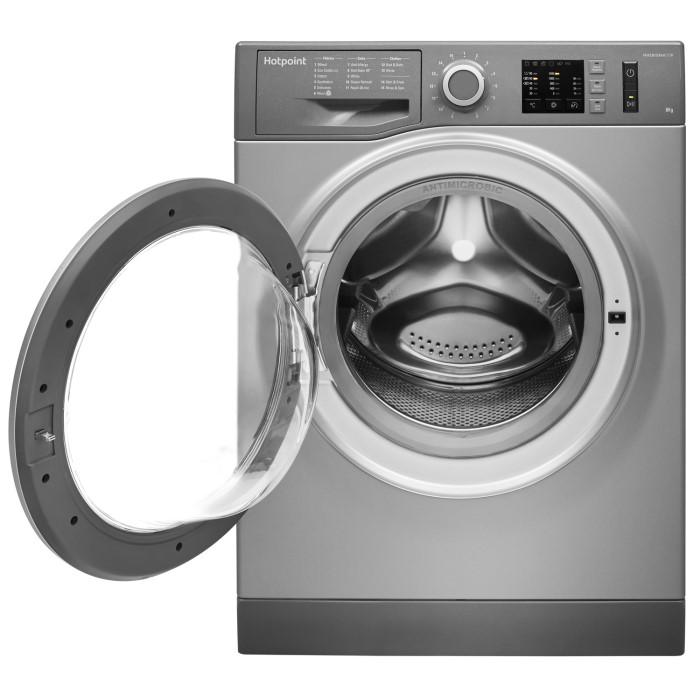 6cf0e13d59 Hotpoint NM10844GS Ultra Efficient 8kg 1400rpm Freestanding Washing Machine  - Graphite NM10844GS