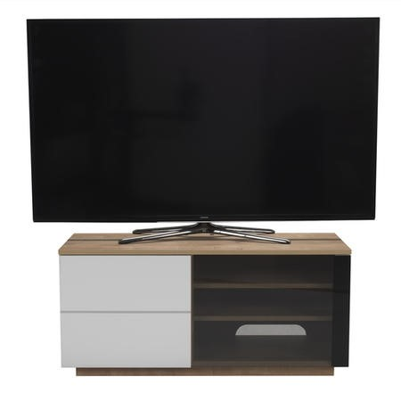 "UK-CF New Paris Oak/White TV Cabinet for up to 55"" TVs"