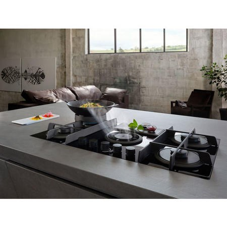 Elica NT-FLAME-BLK-RC NikolaTesla Flame Gas Venting Hob Recirculation Only- Black