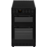 New World NWMID52CB 50cm Black Electric Twin Cavity Ceramic Cooker Best Price, Cheapest Prices