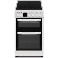 New World NWMID52CW 50cm White Electric Twin Cavity Ceramic Cooker Best Price, Cheapest Prices
