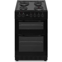 New World NWMID52EB 50cm Black Electric Twin Cavity Solid Plate Cooker Best Price, Cheapest Prices