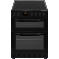 New World NWMID62CB 60cm Black Electric Twin Cavity Ceramic Cooker Best Price, Cheapest Prices