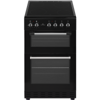 New World NWTOP52CB 50cm Black Electric Twin Cavity Ceramic Cooker Best Price, Cheapest Prices