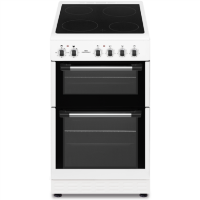 New World NWTOP52CW 50cm White Electric Twin Cavity Ceramic Cooker Best Price, Cheapest Prices