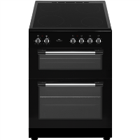 New World NWTOP62CB 60cm Black Electric Twin Cavity Ceramic Cooker Best Price, Cheapest Prices