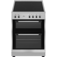 New World NWTOP62CS 60cm Silver Electric Twin Cavity Ceramic Cooker Best Price, Cheapest Prices