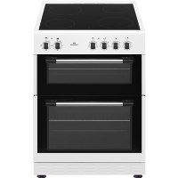 New World NWTOP62CW 60cm White Electric Twin Cavity Ceramic Cooker Best Price, Cheapest Prices