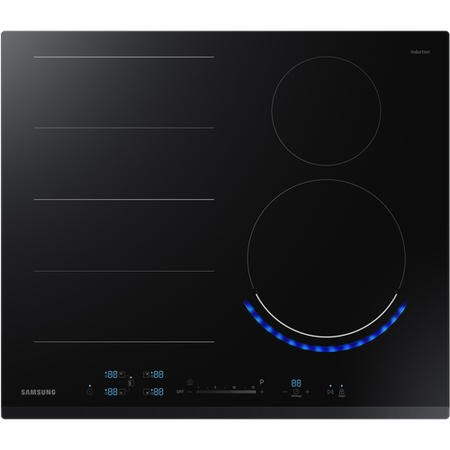 Samsung NZ64N9777BK 60cm Four Zone Induction Hob with Virtual Flame and Flex Zone Plus