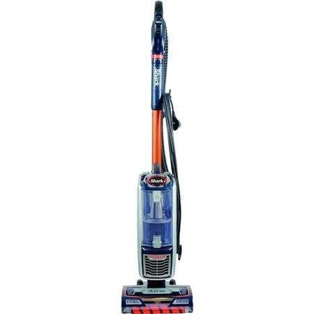 Shark NZ801UKT Anti Hair Wrap Allergy Duoclean Pet Upright Vacuum Cleaner - Navy And Orange