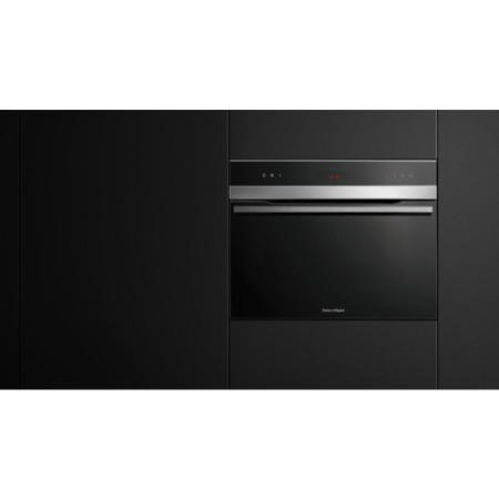 Fisher & Paykel OB60N8DTX1 80782 Designer Electronic Control Multifunction Oven Stainless Steel And Black Glass