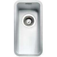 Reginox OHIO18X40CW Regi Color Ohio 0.5 Bowl White Stainless Steel Undermount Kitchen Sink