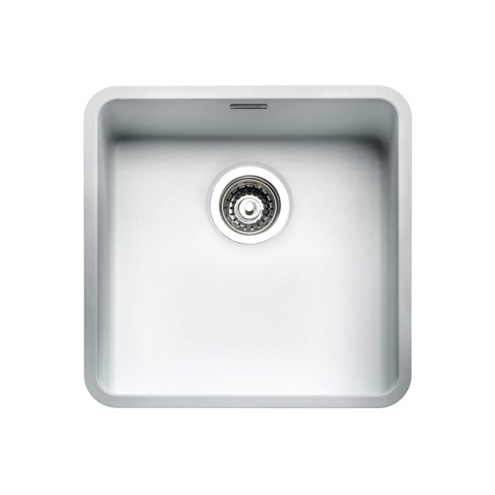 Reginox ohio40x40cw regi color ohio 1 0 bowl white for Colored stainless steel sinks