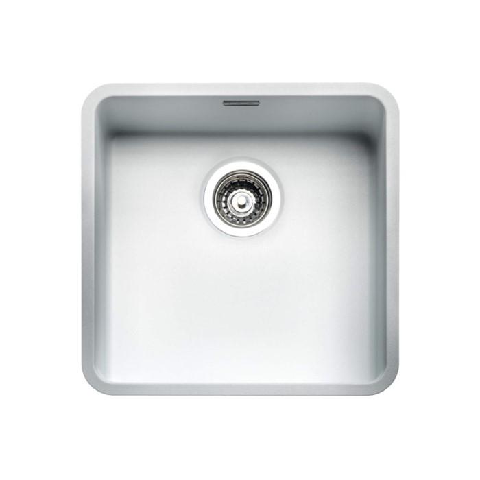 Reginox ohio40x40cw regi color ohio 1 0 bowl white for Colored stainless steel sinks