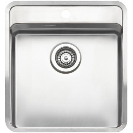 Reginox OHIO40X40TAP-WING 1.0 Bowl Integrated Stainless Steel Sink With Tap Deck