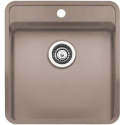 Reginox OHIO40X40TAPWINGCS Regi Color Ohio Tapwing 1.0 Bowl Sand Stainless Steel Kitchen Sink