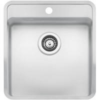 Reginox OHIO40X40TAPWINGCW Regi Color Ohio Tapwing 1.0 Bowl White Stainless Steel Kitchen Sink