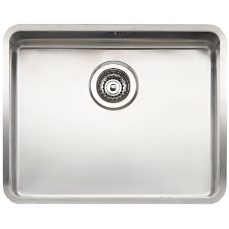 Reginox OHIO50X40-L Large 1.0 Bowl Integrated Stainless Steel Sink