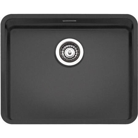 Reginox OHIO50X40CB Regi Color Ohio 1.0 Bowl Black Stainless Steel Kitchen Sink