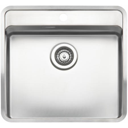 GRADE A1 - Reginox OHIO50X40TAP-WING Large 1.0 Bowl Integrated Stainless Steel Sink With Tap Deck