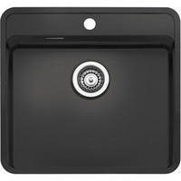 Reginox OHIO50X40TAPWINGCB Regi Color Ohio Tapwing Black Stainless Steel Kitchen Sink