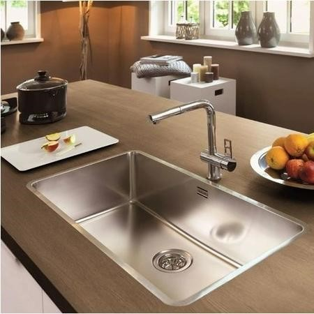 Reginox OHIO80X42-L Extra Large 1.0 Bowl Integrated Stainless Steel Sink