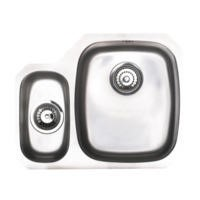 Astracast OPS3XXHOMESKL1 Opal S3' Undermount 1.5 Bowl Polished Stainless Steel Sink with Left Hand Small Bowl