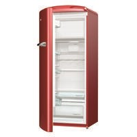 Gorenje ORB153R-L Retro Freestanding Fridge With Freezer Box - 154cm - Left-hand - Burgundy