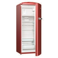 Gorenje ORB153R Retro Freestanding Fridge With Freezer Box - 154cm - Right Hand - Burgundy