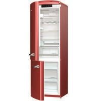 Gorenje ORK193R-L Retro Freestanding Fridge Freezer - 194 cm - Left-hand - Burgundy