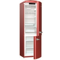 Gorenje ORK193R Retro Freestanding Fridge Freezer - 194 cm - Right Hand - Burgundy