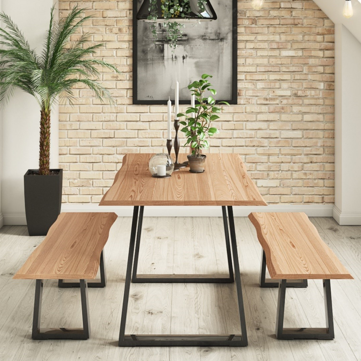 Prime Industrial Dining Table Set In Solid Wood With 2 Dining Creativecarmelina Interior Chair Design Creativecarmelinacom