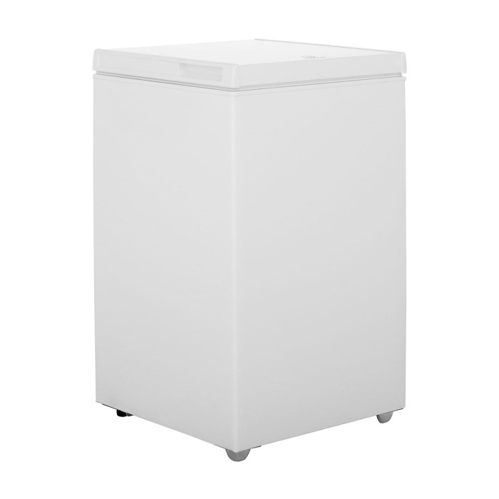 Indesit OS1A100 53cm Wide 100 Litre Chest Freezer White ...