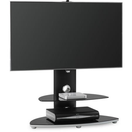 "Alphason OSMB800/2-S Osmium Black TV Stand for up to 47"" TVs"