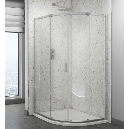 Claritas 6 Glass Quadrant Shower Screen Enclosure 900mm x 760mm - 6mm Glass