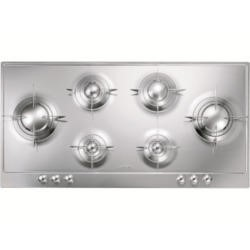 Smeg P106ES 100cm Polished Stainless Steel Piano Design 6 Burner Gas Hob with Evershine