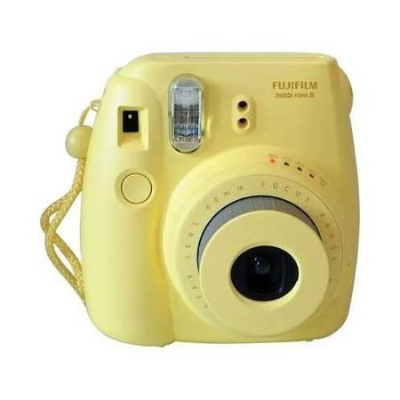 Fuji Instax Mini 8 Yellow Instant Camera inc 10 Shots