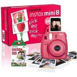 Fuji Instax Mini 8 Raspberry Instant Camera inc 10 Shots