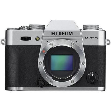 FujiFilm X-T10 Camera Silver Body Only 16.3MP 3.0LCD FHD WiFi
