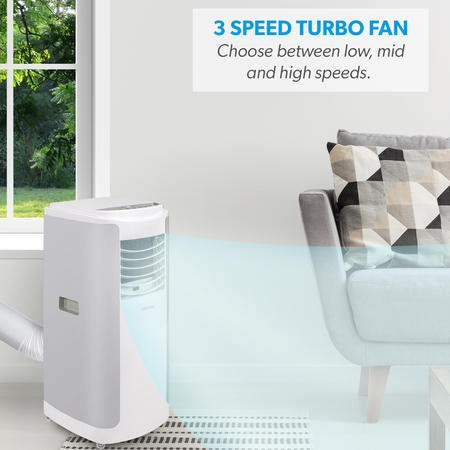 electriQ 12000 BTU SMART WIFI App Portable Air Conditioner with heatpump for rooms up to 30 sqm - Alexa Enabled